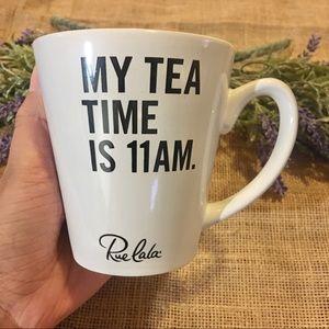 Rue la la White Tea Time Mug